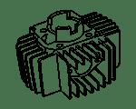 Puch Zylinder Puch Maxi, MV, VS