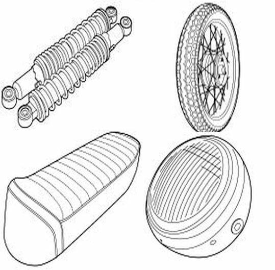 Verschiedene Rahmenteile & Zubehör für ihr Tomos Moped
