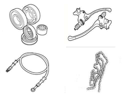 Universalzüge, Lager, Griffe, Ketten und Bremsteile