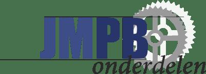 Aufkleber Tomos Logo Blau/Chrom 40MM