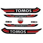 Aufklebersatz Tomos A3 Altes Modell Rot/Schwarz