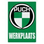 Werkplaats Aufkleber Puch Niederländisch