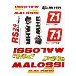 Aufkleber Malossi Rot 10-Stück