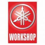 Workshop Aufkleber Yamaha English