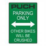 """Aufkleber """"Puch Parking Only"""" Grün"""