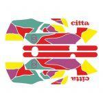 Aufklebersatz Gilera Citta Funny Rot