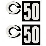 Aufklebersatz Zundapp C50 Schwarz
