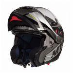 Helm System MT Atom Transcend SV Schwarz Glanz/Matt Grau