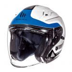 Helm Jet Avenue Crossroad MT Weiß/Blau