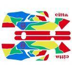 Aufklebersatz Gilera Citta Funny Multi