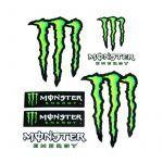 Aufkleber Monster 6 Stück Klein