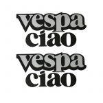 Aufkleber Vespa Ciao Anthrazit 2 Stück