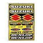 Aufklebersatz Dunlop / Suzuki