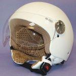 Helm Jet Retro Leer MT Weiß