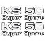 Aufklebersatz Zundapp KS50 Supersport 4-Teilig